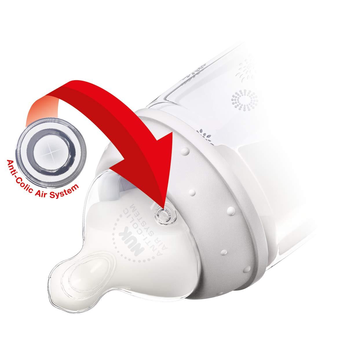 Nuk Biberon 360 mL T/étine Silicone Taille 2 Per/çage M