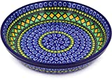Polish Pottery Pie Dish 10-inch Stained Glass Window UNIKAT