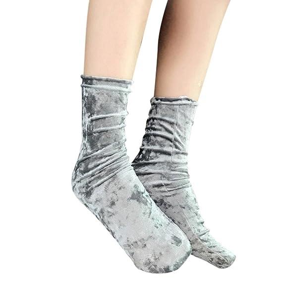 2019 Promoción A Calcetines Casa Hombre Moda Mujer Casual Calcetines Sólidos Diseño Multi-Color Cálido Invierno: Amazon.es: Ropa y accesorios