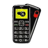 """Telefone Celular Dual SIM Barra, DL YC-110, 24MB, 1.8"""", Preto"""