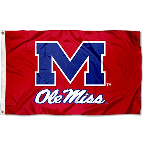 Elegant Mississippi Rebels Ole Miss University Large College Flag