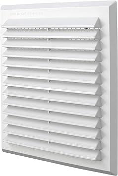 Rejilla de ventilaci/ón cuadrada de pl/ástico tama/ño 140 x 140 mm para empotrar Color blanco. La Ventilazione G1414B