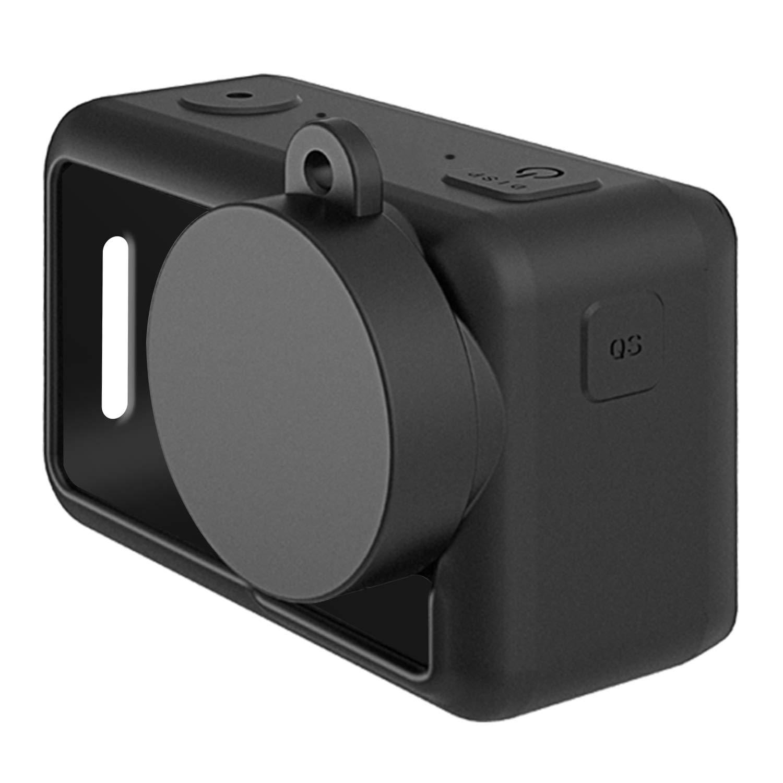 FASTSNAIL Custodie Protettiva e Copriobiettivo in Silicone per DJI OSMO Action Lens cap Accessori Protective Case Cover