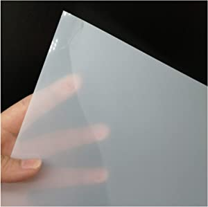 10 Sheets 10 mil Mylar Sheet 12 x 12 inch Milky Translucent PET Blank Stencil Making Sheet for Cricut, Laser Cutting, Gyro-Cut Tool Template Material (10 mil)