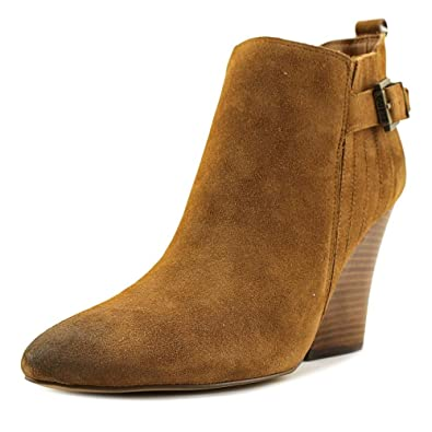 GUESS Womens Nicolo Suede Pointed Toe Ankle Cold Weather Boots