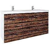 Charmant 48 Inch Double Bathroom Vanity U0026 Mirror | Floating Vanity + Resin Bathroom  Sink + 2