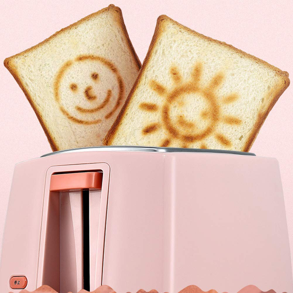 Gyswshh 2-slice Automatic Electric Toaster, Breakfast Maker,Household Bread Toast Machine Pink by Gyswshh (Image #6)