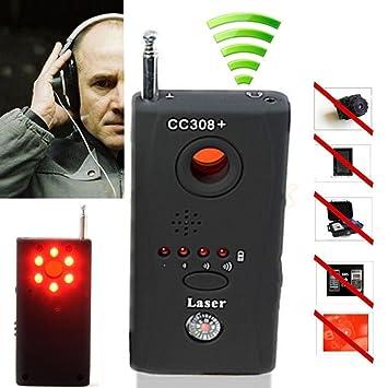Detector de micrófonos espías con señal de radiofrecuencia, rastreador de lentes de cámaras y dispositivos GSM: Amazon.es: Electrónica