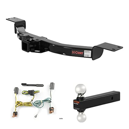 amazon com: curt trailer hitch, wiring & multi-ball ball mount for 2007-2012  gmc acadia: automotive