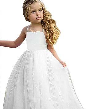5f55dc201139 Amazon.com: Toddler Baby Girls Tutu Dress Sleeveless Infant Toddler ...