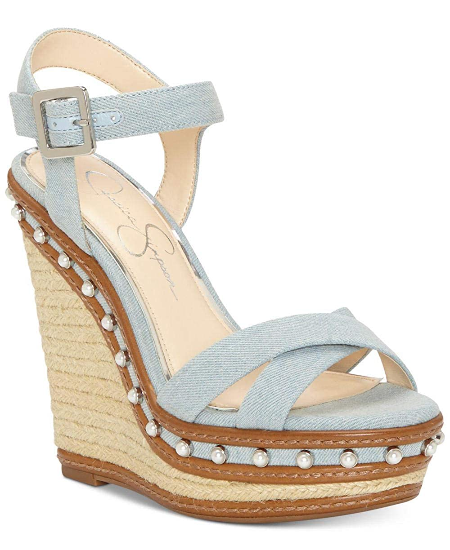 bluee Jessica Simpson Aeralin Wedge Slingback Sandals, Black