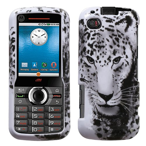 (Snow Leopard Phone Protector Cover for MOTOROLA i886)
