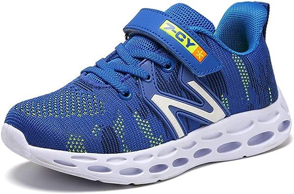 HSNA Zapatillas Niños Velcro Zapatos de Gimnasia para Caminar Ligero Trainers Kids 26-40 EU: Amazon.es: Zapatos y complementos
