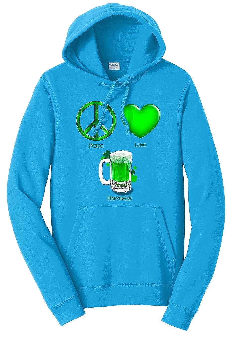 Tenacitee Unisex Peace Love Happiness Sweatshirt