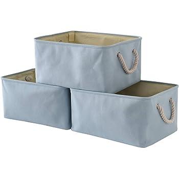Merveilleux TheWarmHome Blue Storage Basket With Sturdy Rod, Collapsible Storage Bins  Set Works As Baby Storage