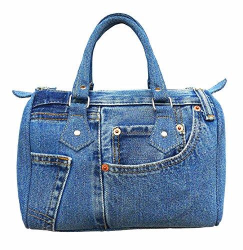 Bijoux De Ja Classic Blue Denim Jean Doctor Style Women Handbag (Jean Purse Pattern)
