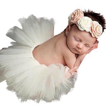 Baby photography prop,huhua toddler newborn baby girls princess tutu skirt headband 2pcs clothes
