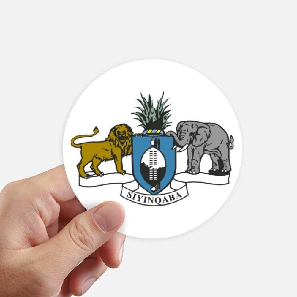 DIYthinker Swaziland Africa National Emblem Round Stickers 10cm Wall Suitcase Laptop Motobike Decal 8pcs