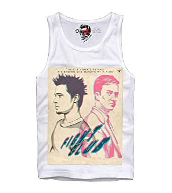 e1d13d2aa8298 Image Unavailable. Image not available for. Color  E1SYNDICATE TANK TOP  SHIRT FIGHT CLUB BRAD PITT TYLER DURDEN ...