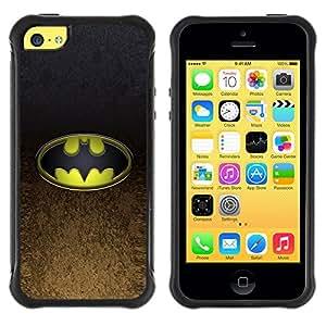 SHIMIN CAO@ Bat Superhero Rugged Hybrid Armor Slim Protection Case Cover Shell For iphone 5C CASE Cover ,iphone 5C case,iphone5C cover ,Cases for iphone 5C