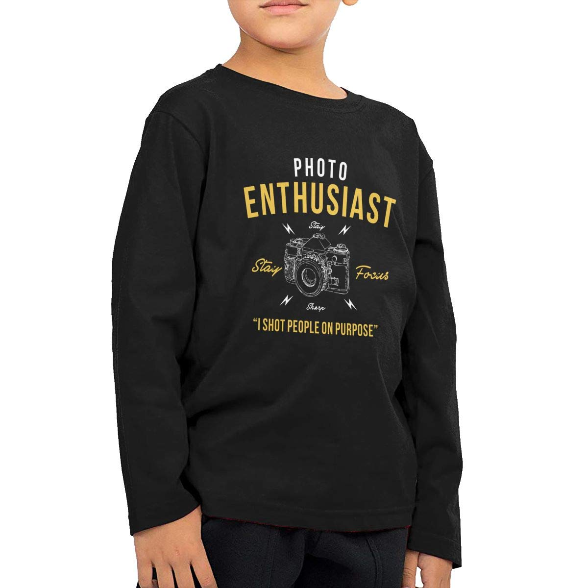 Photo Enthusiast Childrens Long Sleeve T-Shirt Boys Girls Cotton Tee Tops
