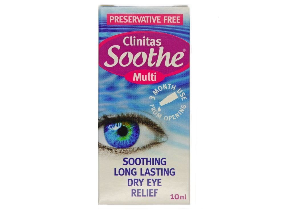 Clinitas Soothe Multi 10ml Dry Eyes - 2 Pack by Clinitas