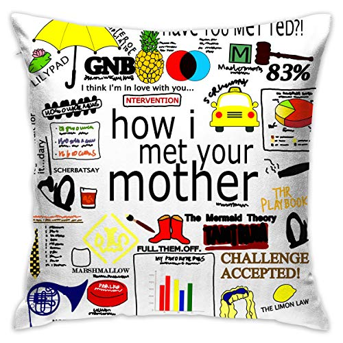Xiaofz How I Met Your Mother Printing Pillow Case Throw Pillow Cover Customized Pillowcase Car Sofa Home Decorative Pillow Case Cushion Covers 1818 Inch ()