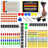 Tolako Electronic Starter Kit for Arduino Resistor Buzzer Breadboard LED Dupont cable Resistor Capacitor