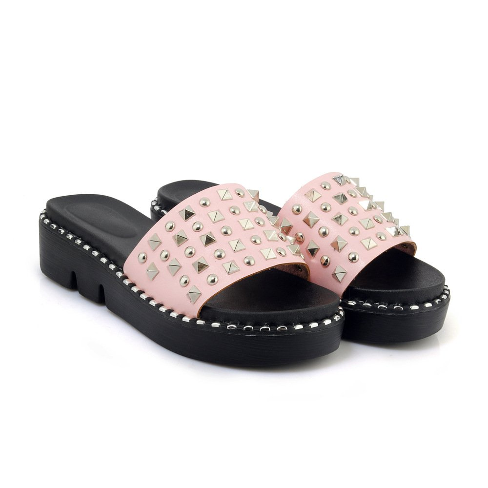 Sandales décontractées pour Femmes, décontractées B00IM59AF6 Chaussures à Talons, Pantoufles Femmes, Rose 48cc1fc - jessicalock.space