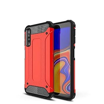LAGUI Funda Adecuado para Samsung Galaxy A7 2018, Robusta Carcasa Híbrida TPU/PC de Doble Capa, Anti-Arañazos Anti-Huella Cubierta Protectora, ...