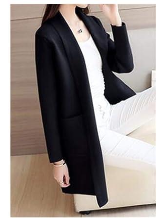 c8d9427a31 Autumn Knitted Sweater Cardigan Women Winter Jacket Loose Big Yards Joker  Long Sweaters Coat Similar Black