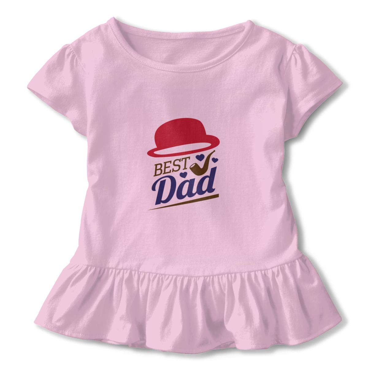 Happy Fathers Day Best Dad Pink 2-6 T Toddler Baby Girls 100/% Cotton Short Sleeve T Shirt Top Outfits Tee Clothes
