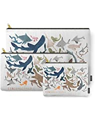 Society6 FINconceivable Still Sharks Carry-All Pouch