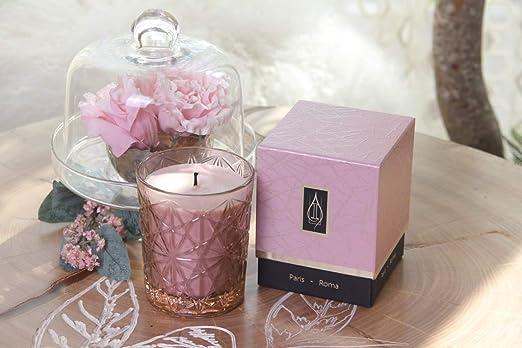 candela profumata//profumata driada/ per regalo bicchiere di vetro decorazione E casa /Vetro Lounge Rosa con Acrilico Paris