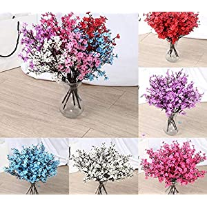 Calla Lily Bridal Wedding Bouquet Head Real Touch Flower Bouquets, 1PC Artificial Flowers Baby Breath Gypsophila Fake Bouquets For DIY Wedding Decoration Home Bouquet Faux Flowers Branch 93