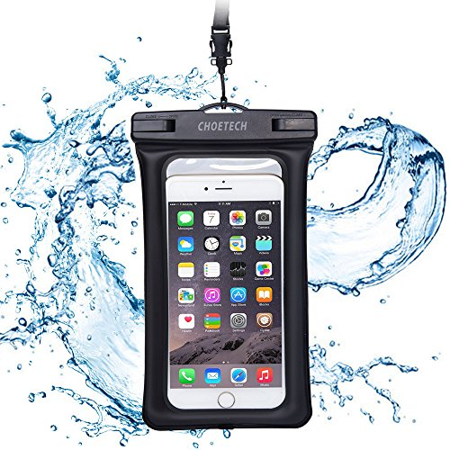 CHOETECH Inflatable Waterproof Pouch Mobile Phone Bags 30M Underwater Dry Case Cover For iphone 5 5S 6 6S (Motorola Phone Corded Headsets)