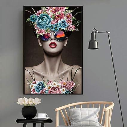 tzxdbh Moderne Modèle De Mode Fleur Floral Femmes Gravures ...