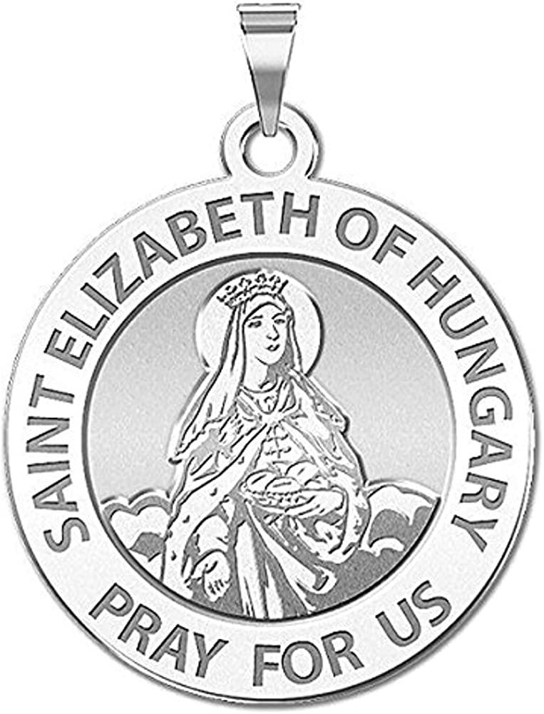 2//3 X 3//4 Inch Size of Nickel Solid 14K Yellow Gold PicturesOnGold.com Saint John The Baptist Religious Medal Color