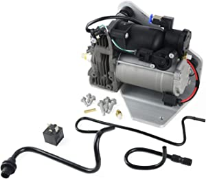 Air Ride Suspension Compressor Pump for AMK Style Fits Land Rover Range Rover Sport LR3 LR4 2005-2014 w/Relay Replace# LR015303 LR023964(4 pins connector)