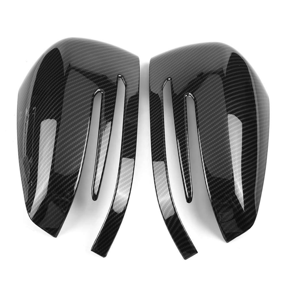 Dibiao Un par de fibra de carbono lado externo del espejo retrovisor cubierta de la tapa para Mercedes A B C E GLA clase W204 W212