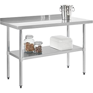 Amazon Com 24 X 48 Stainless Steel Commercial Kitchen Table Prep