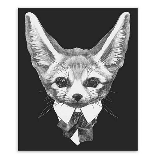 zgmtj Moda Mafia en Blanco y Negro Hipster Animales Perro Gato ...