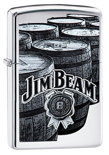 (Zippo Jim Beam High Polish Chrome Lighter)
