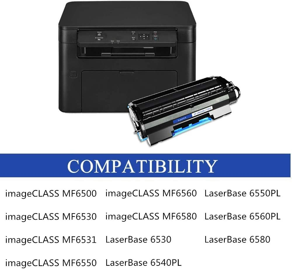 Black, 2-Pack SuperInk Compatible Toner Cartridge Replacement for Canon 106 C106 CRG106 CRG-106 0264B001AA