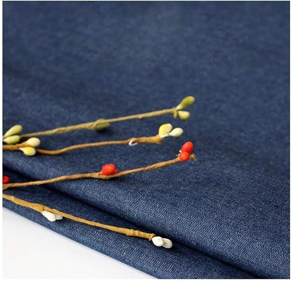 4色で幅150cmの薄いストレッチデニム生地夏のスカートシャツジーンズ作り (Color : Dark blue)