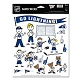 NHL Tampa Bay Lightning Spirit Family Decal Sheet, 8.5 x 11-inches