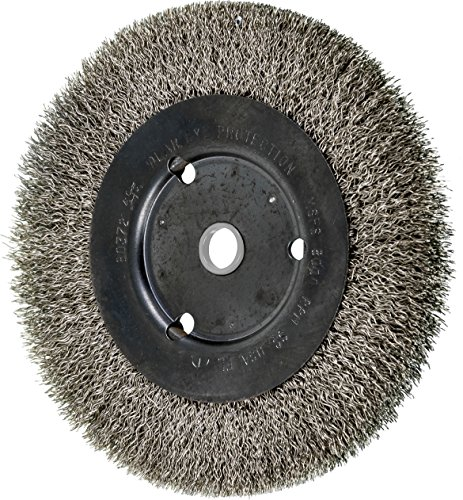 Stainless Steel Crimped Wire - PFERD 80372 Narrow Face Crimped Wheel Brush, Stainless Steel Wire, 6