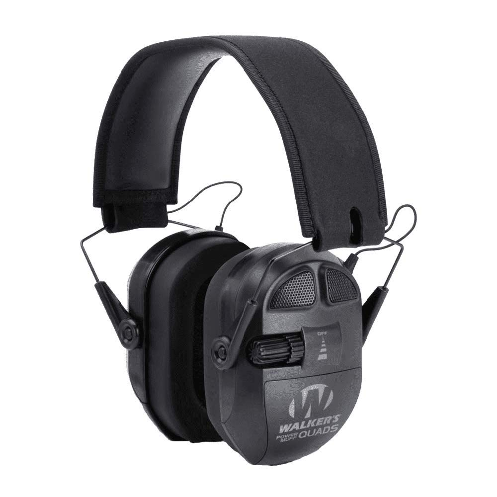 Walkers Ultimate Series Power Muff Quads Electronic Earmuff 26 dB Black New Item by Walkers