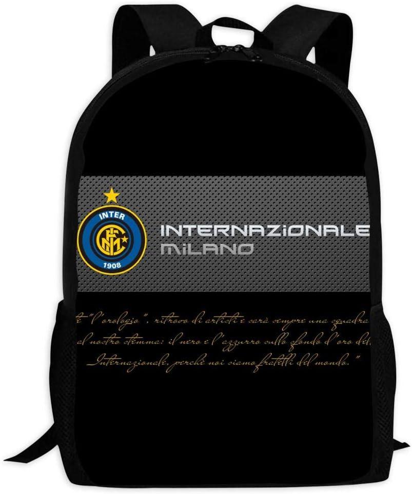 YFFHH I-Nter Milan Noir Taille Unique Sac /à Dos /à Impression num/érique 3D Multifonction