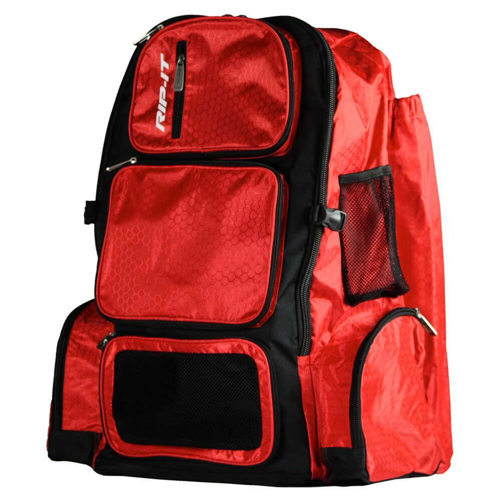 RIP-IT Pack It Up Backpack - Softball Equipment Bag - Scarlet
